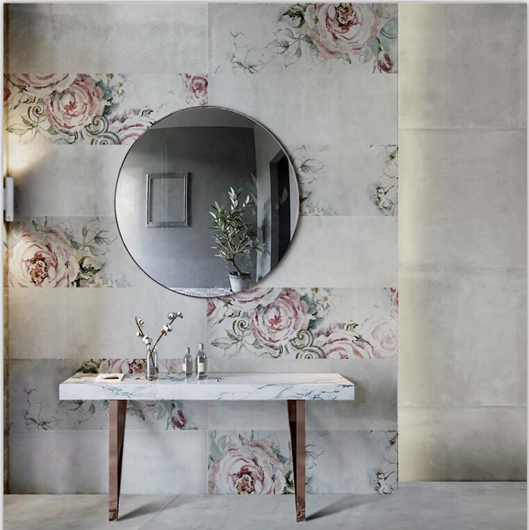 依诺新品-300X800MM釉面砖《陌上花开》瓷砖产品介绍及效果图展示!