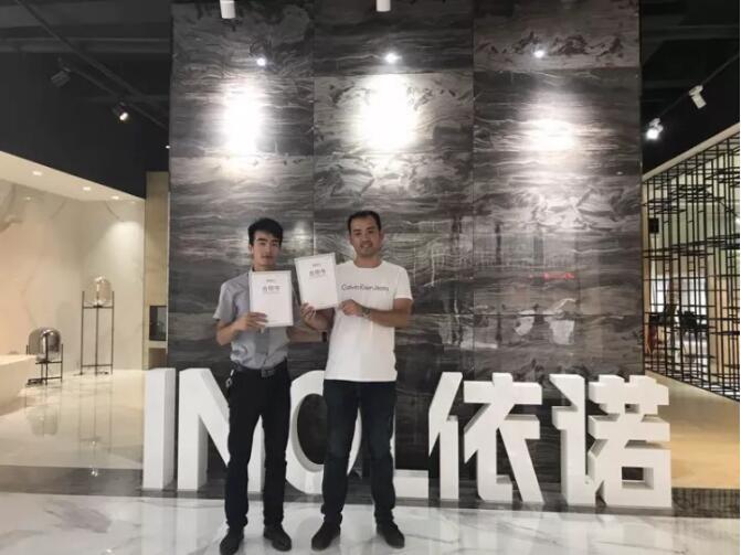 【依诺瓷砖·新客户加盟】祝贺广西桂林·吴友乐先生与依诺瓷砖签约!