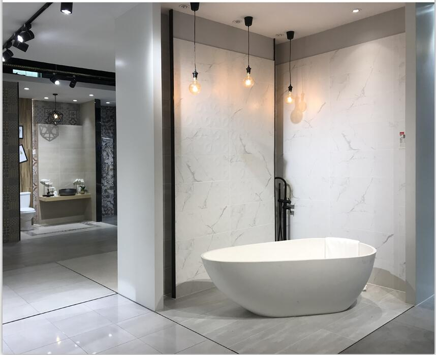 依诺瓷砖新品白色仿古砖300X800MM柏拉图系列产品及空间应用效果图!
